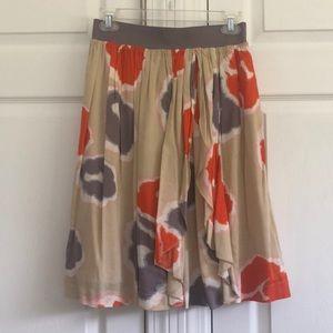 Downeast Basics Floral A Line Skirt XS